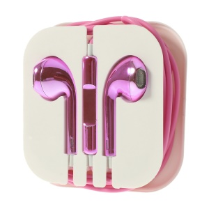 Electroplated In-Ear 3.5mm Earphone Headset with Mic for iPhone iPad iPod Samsuang - Rose