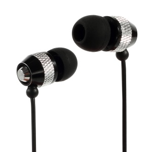 Wallytech WEA-081 Cheap Metallic In-Ear Earphone for iPhone iPod Samsung LG Sony HTC MP3 Etc - Silver / Black
