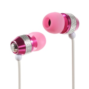 Wallytech WEA-081 Cheap Metallic In-Ear Earphone for iPhone iPod Samsung LG Sony HTC MP3 Etc - Silver / Rose
