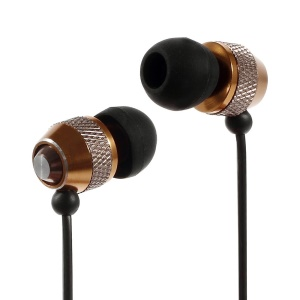 Wallytech WEA-081 Cheap Metallic In-Ear Earphone for iPhone iPod Samsung LG Sony HTC MP3 Etc - Gold