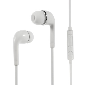 Wallytech WHF-126 3.5mm In-Ear Earphone with Mic & Remote for iPhone Samsung HTC Etc - White