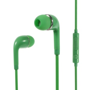 Wallytech WHF-126 3.5mm In-Ear Earphone with Mic & Remote for iPhone Samsung HTC Etc - Green