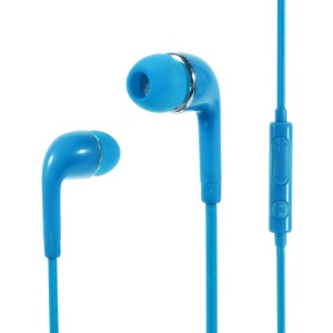 Wallytech WHF-126 3.5mm In-Ear Earphone with Mic & Remote for iPhone Samsung HTC Etc - Blue