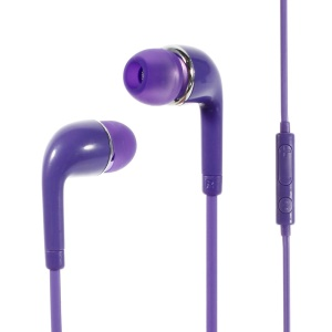 Wallytech WHF-126 3.5mm In-Ear Earphone with Mic & Remote for iPhone Samsung HTC Etc - Purple