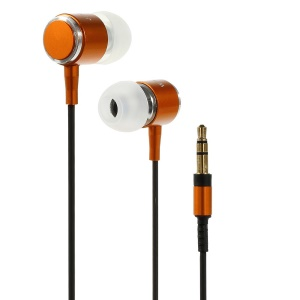 Wallytech WEA-085 Metallic In-Ear Earphone for iPhone iPod Samsung LG Sony HTC MP3 MP4 Etc - Orange