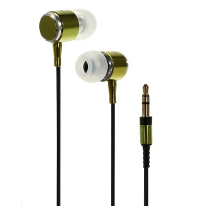 Wallytech WEA-085 Metallic In-Ear Earphone for iPhone iPod Samsung LG Sony HTC MP3 MP4 Etc - Green