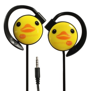 KEEKA Cute Duck Noodle-shaped 3.5mm Earbud Earphone w/ Mic for iPhone iPod Samsung LG Sony HTC MP3 MP4 - Black