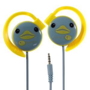 KEEKA Cute Duck Noodle-shaped 3.5mm Earphone Headset w/ Mic for iPhone iPod Samsung LG Sony HTC MP3 MP4 - Blue