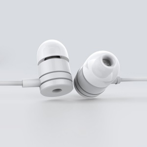 White Xiaomi Express Edition 3.5mm Plug Stereo Piston Earphone w/ Mic & Control Talk for Xiaomi iPhone Samsung HTC
