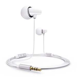White Remax RM-702 Ceramic Music Earphone w/ Remote & MIC for IOS iPhone iPad iPod