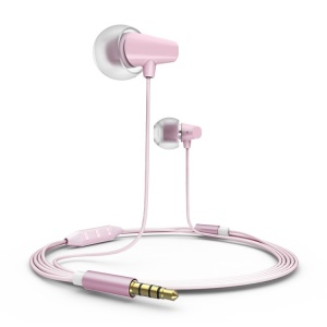 Pink Remax RM-702 Ceramic Music Earphone w/ Remote & MIC for IOS iPhone iPad iPod
