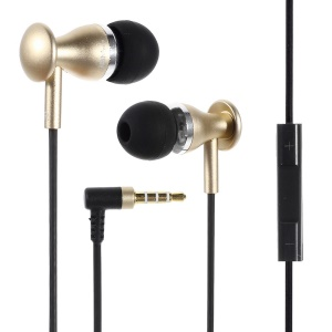JBM MJ9600 In-ear Metal Stereo Headset w/ Remote & MIC for iPhone iPad Samsung HTC - Gold
