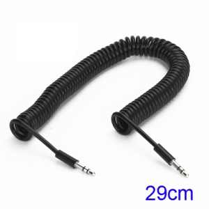 3.5mm Car Stereo Audio Aux Coil Cord Cable for iPhone iPod MP3 MP4, Length: 29CM