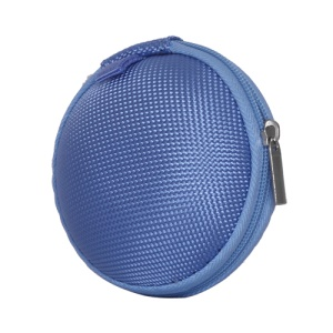 Ball Shape Carrying Bag Case Pouch for Headphones Earphones MP3 - Blue