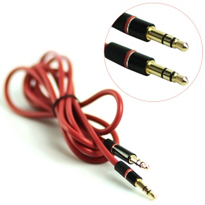3.5mm Male to Male Stereo Audio Aux Extension Cable, Length: 1.3M
