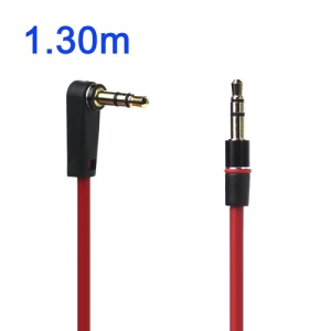 3.5mm Male to Male Stereo Audio Aux Extension Cable - Right-angle Head
