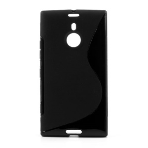 S Shape TPU Gel Case for Nokia Lumia 1520 - Black