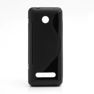 S-Curve Gel TPU Case Cover for Nokia 206 2060 - Black