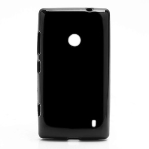 Candy Gel Jelly TPU Case Cover for Nokia Lumia 520 - Black