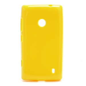 Candy Gel Jelly Gel TPU Case Shell for Nokia Lumia 520 - Yellow