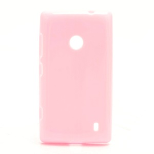 Candy Gel Jelly Gel TPU Case Cover for Nokia Lumia 520 - Pink