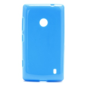 Candy Gel Jelly Gel TPU Case Cover for Nokia Lumia 520 - Blue