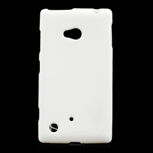 Candy Jelly Gel TPU Case Cover for Nokia Lumia 720 - White