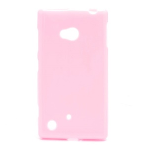 Candy Jelly TPU Gel Case Cover for Nokia Lumia 720 - Pink