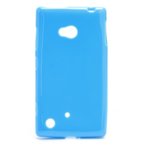 Candy Gel Jelly TPU Case Cover for Nokia Lumia 720 - Blue