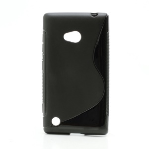 S Shaped Jelly Gel TPU Case Cover for Nokia Lumia 720