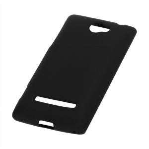 Matte Frosted TPU Gel Back Case for HTC Windows Phone 8S - Black
