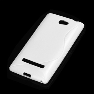 S-Curve TPU Gel Skin Cover Case for HTC Windows Phone 8S - White