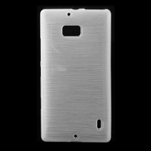 White Glossy Outer Brushed Inner TPU Case for Nokia Lumia 930 / Icon 929
