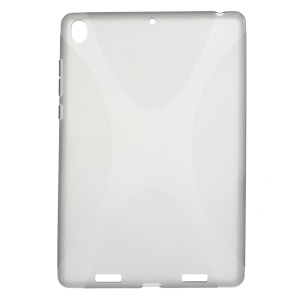For Xiaomi MiPad A0101 X Shape Anti-slip TPU Back Case - Grey