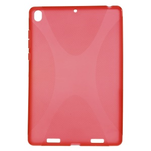 For Xiaomi MiPad A0101 X Shape Anti-slip TPU Skin Case - Red