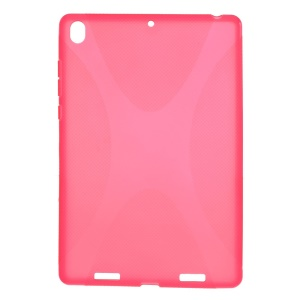X Shape Anti-slip Flex TPU Cover for Xiaomi MiPad A0101 - Rose