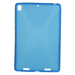 X Shape Anti-slip Flex TPU Gel Case for Xiaomi MiPad A0101 - Blue