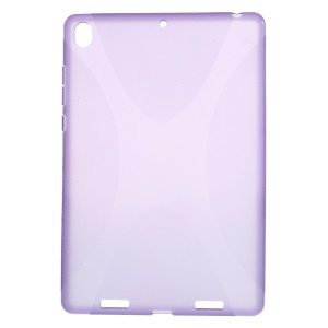 X Shape Anti-slip TPU Case Cover for Xiaomi MiPad A0101 - Purple