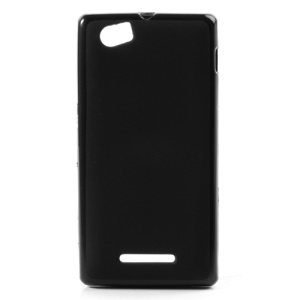 Black Candy TPU Gel Case for Sony Xperia M C1905 C1904 C2004 ( Matte Back )