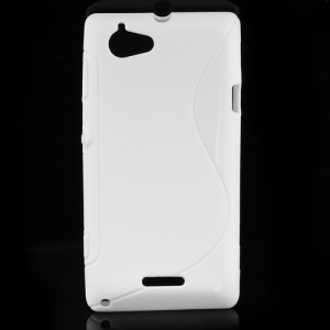 S Shape Gel TPU Case Cover for Sony Xperia L S36h C2105 C2104 - White