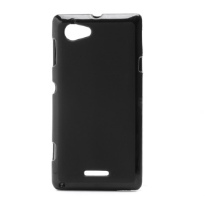 Flexible Gel TPU Case Cover for Sony Xperia L S36h C2105 C2104 - Black