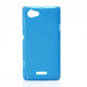Flexible Gel TPU Case Cover for Sony Xperia L S36h C2105 C2104 - Blue