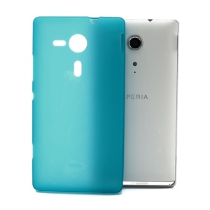 Double-side Matte Jelly TPU Case for Sony Xperia SP C5303 C5302 C5306 M35h - Baby Blue