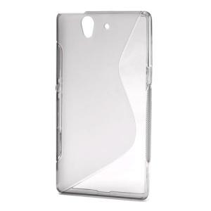 S Shape Flexible Gel TPU Phone Case for Sony Xperia Z C6603 C6602 L36h HSPA+ LTE;Red