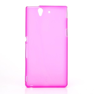 Flex Protective Gel TPU Case for Sony Xperia Z L36h Yuga C6603 - Transparent Rose