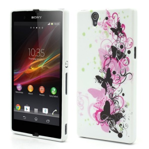 Elegant Butterflies Soft TPU Gel Case Cover for Sony Xperia Z L36h Yuga C6603