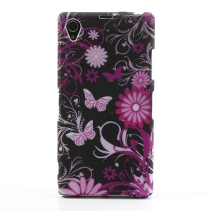 Butterfly Flower TPU Gel Case for Sony Xperia Z1 C6903 L39h