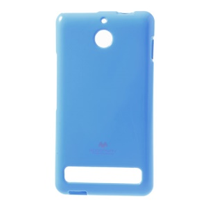 Baby Blue Mercury Goospery Glittery Powder TPU Gel Cover for Sony Xperia E1 D2004 D2005 / E1 Dual D2104 D2105 D2114