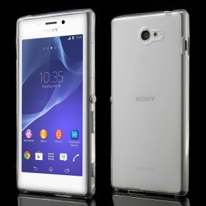 Ultra Slim 0.6mm TPU Case for Sony Xperia M2 D2303 / M2 Dual D2302 - Transparent