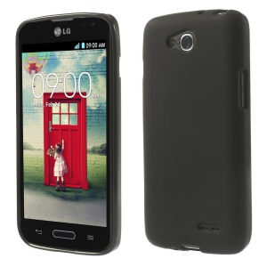 Black Double-sided Frosted TPU Case for LG L90 D405 (Glossy Edges)